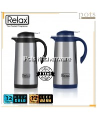 Relax 1.9L Stainless Steel 18.8/SUS304 Glass Interior Thermal Jug/Carafe - D4190