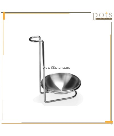 Stainless Steel Soup Ladle Holder with Dish - 010120916