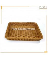39cm x 30cm Rectangular Polyrattan Bread Basket - A13653
