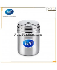 Toffi Stainless Steel Condiment/Pepper/Salt Shaker with Adjustable Hole Size - B4200