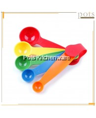 5 pieces Multicolor Cooking/Baking Measuring Spoon Set - HC012