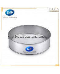 Toffi Stainless Steel Fine Mesh Flour Strainer with Ring Hanger- K3020