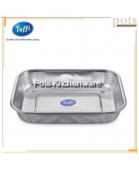 Toffi Stainless Steel Rectangular Colander/Strainer/ Storage Basket - K2929M