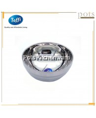 Toffi High Quality Stainless Steel Double Layer Anti Scald Round Soup Bowl - K6000