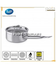 Toffi Stainless Steel Professional Chef Grade Heavy Duty Sandwich Bottom Saucepan with Cover (16cm/18cm/20cm/22cm/24cm)