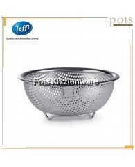 Toffi High Quality Stainless Steel Colander/Strainer with Ring - K3814M