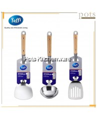Toffi Stainless Steel Kitchen Utensil with Wooden Handle - K0300M