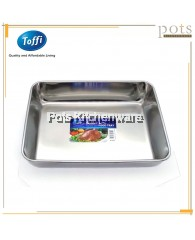 Toffi High Quality Stainless Steel Deep Rectangular Tray - K7325M