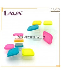 Lava 95ML(6pcs) /190ML(4pcs) Mini BPA Free Plastic Food Storage Containers Set - MC246M