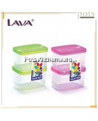 Lava 4pcs 400ML Plastic Food Container/ Storage Box Set- FC2222