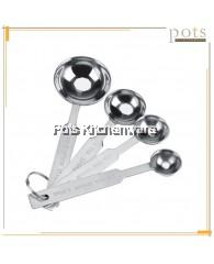 4pcs Stainless Steel Measuring Spoon Set - J156011