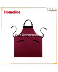 Homeline Stylish Dual Pocket Full Length Cotton Polyester Bib Apron-L0219