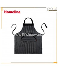 Homeline Stylish Dual Pocket Full Length Cotton Polyester Bib Apron-L0221