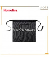 Homeline Stylish Dual Pocket Half Length Bistro Apron with Lines - L0225