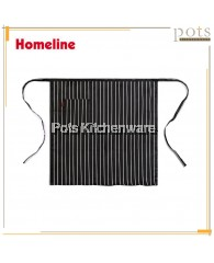 Homeline Stylish  Single Pocket Half Length Bistro Apron with Lines - L0226