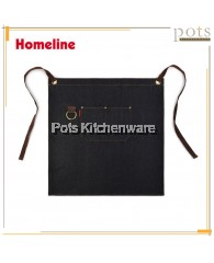 Homeline Stylish Dual Pocket Half Length Denim Apron-L0305