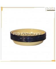 3pcs Enamel Dinnerware Rice Plate 18cm/20cm/22cm/24cm/26cm - 174