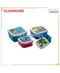 Elianware BPA Free Mini Square Juctice League Heroes Food Keeper (550ml)-DC5233