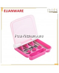 Elianware Separate Compartment  Cutlery Tray With Transparent Cover-E770