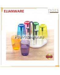 Elianware BPA-Free Modern Rectangular Cup Holder With Tray-E772