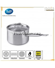 Toffi Stainless Steel Professional Chef Grade Heavy Duty Sandwich Bottom High Saucepan with Cover (16cm/18cm/20cm/22cm/24cm)