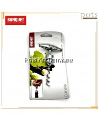 Banquet High Quality 2-in-1 Corkscrew + Bottle Stopper