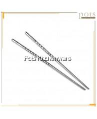 Stainless Steel Reusable Non-Slip Lightweight Chopsticks 5 pairs - B502