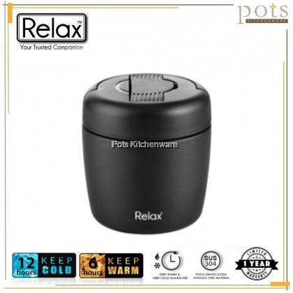 RELAX 18.8 Stainless Steel Keep Warm Thermal Food Jar Lunch Box (800ml) - K3380