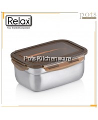 RELAX Stainless Steel Rectangle Food Container (700ml - 3700ml) - H1200