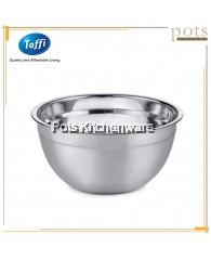 Toffi Stainless Steel Salad Bowl Baking Mixing Bowl (18cm/20cm/22cm/24cm/26cm) - K5420M