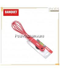 Banquet High Quality Red Culinaria Heat-Resistant Egg Whisk (30cm) - BQXAU009R08X