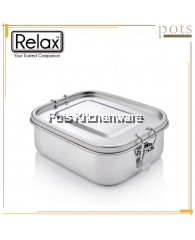 RELAX SUS304 Stainless Steel Anti Leakage Silicone Ring Lunch Box (800ml - 1400ml) - H0200