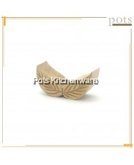 Wooden Leaf Shape Kuih Mould (6.3cm) - BB465