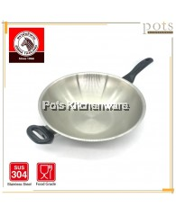 Zebra Stainless Steel SUS 304 Vitalux Plus IH Frying Pan (34cm) - Z176394