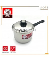Zebra Stainless Steel SUS 304 Extra High Image Sauce Pan (18cm) - Z166305