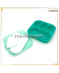4 Covered Compartments Plastic Catering Lunch Box - SS962
