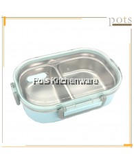 Katie 2 Compartment High Quality Stainless Steel 304 Lunch Box Food Container (720ml) - H0407