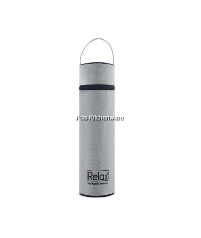 Relax Classic Stainless Steel 18.8 Thermal Flask with FREE Pouch - D2000