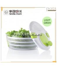 Smile Mom Crank Handle Locking Lid Big Vegetable Dehydrator Salad Dryer Spinner Colander  - D650