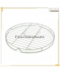 High Quality Stainless Steel Round Baking Cooling Steaming Rack Wire Stand (30cm/35cm/40cm/45cm) - SS1135M