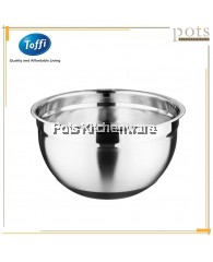Toffi High Quality Stainless Steel Silicone Base Anti-Slip Baking Mixing Salad Bowl (20cm/22cm/24cm/26cm/28cm) - K7420M
