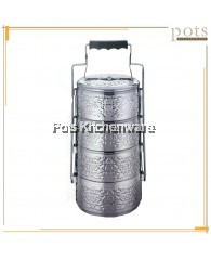 Singha Thai Style 4 Tier / 4 Layer Stainless Steel Tiffin Food Carrier Container - (14cm/16cm) - 144M