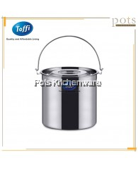 Toffi Commercial Cooking Stainless Steel Stock Pot Loop Handle with Lid (14L/17L/21L) - C3520
