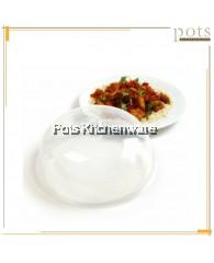 Transparent Microwavable Round Dish Food Anti Splattering Cover (26cm/28.5cm) -1100T