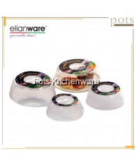 Elianware Plastic Microwavable Round Dish Bowl Food Cover - (5/6/7/8/9/10inch) E1700