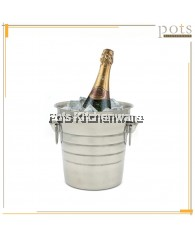 Stainless Steel Champagne Beer Wine Ice Bucket Cooler - (19.5cm/21cm/26.5cm) - CC