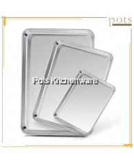 Stainless Steel Rectangular Cooking Dish Plate Dish Tray - TCMSD3317M