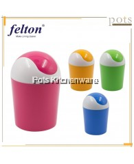 Felton Mini Small Home Desktop Table Kitchen Swing Lid Dustbin (1L/4L) - FDB2180