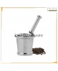 Stainless Steel High Quality Mortar and Pestle Set (6cm/7.5cm/8.5cm) - 03KUTID0