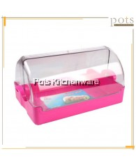 Best Ware BPA FREE Plastic Multipurpose Bread Box Food Display Container with Transparent Lid - 1801